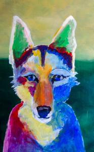 Coyote Acrylic Painting Step by Step
